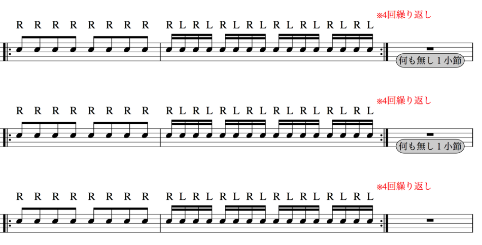 基礎練習のパターン例