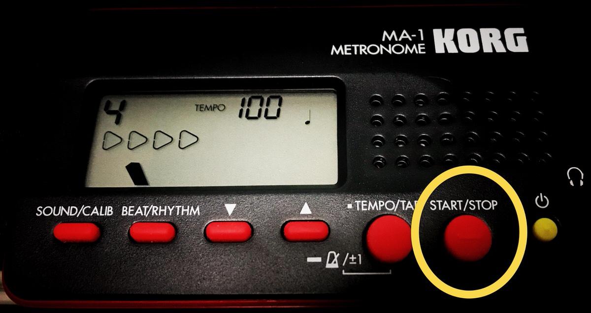 KORG MA-1のスタートボタン