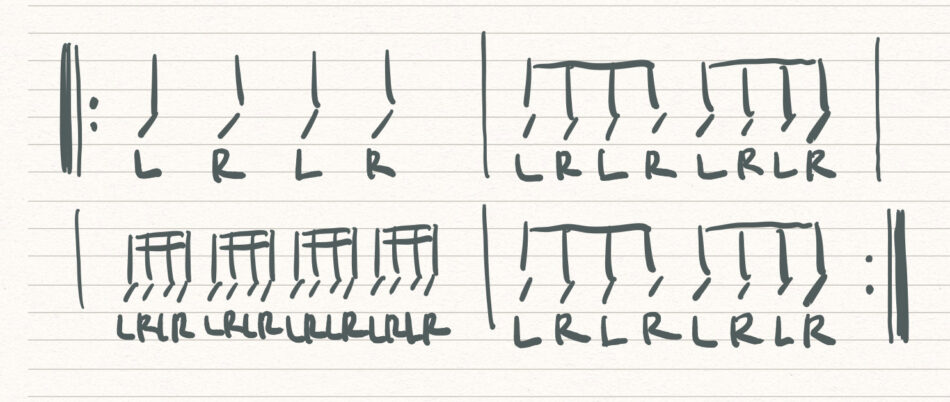 自宅でできる練習パッドを使った基礎練習