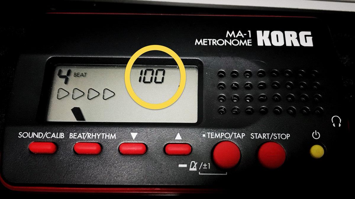 KORG MA-1のテンポを表示
