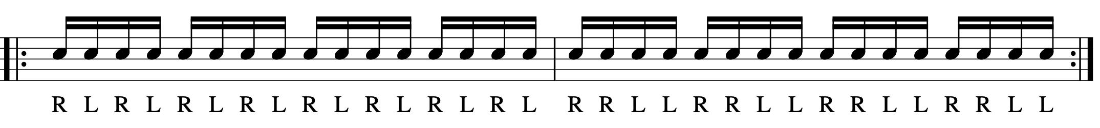 ダブルストロークの練習パターン-1