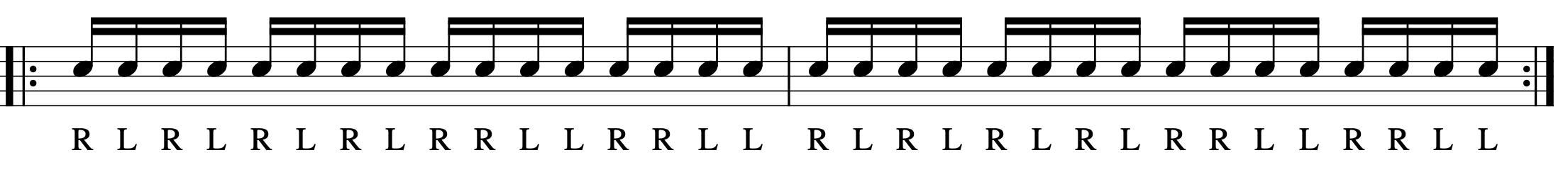 ダブルストロークの練習パターン-3