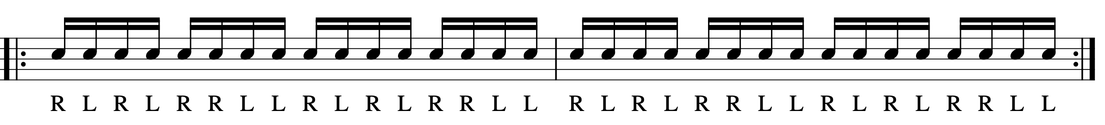 ダブルストロークの練習パターン-4
