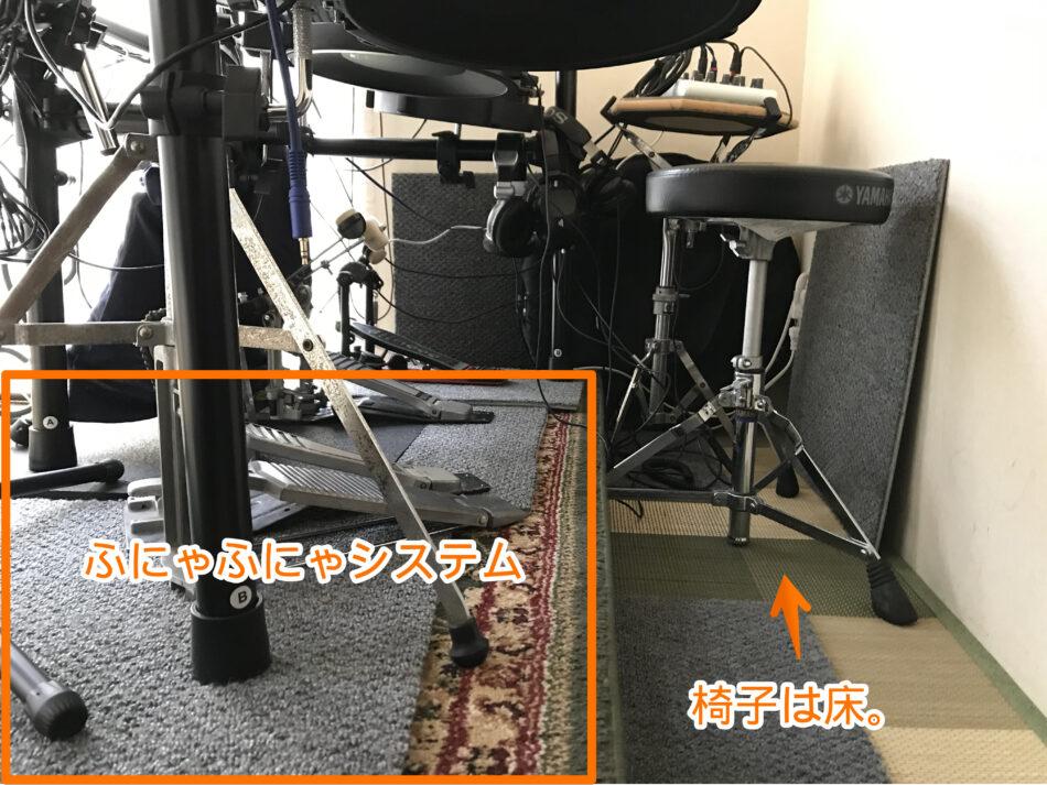 ふにゃふにゃシステムの椅子の置き方
